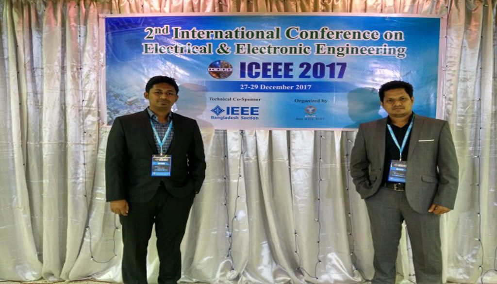 EEE students presented their research papers in ICEEE-2017
